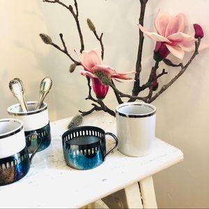 Set of 4 vintage Turkish coffee espresso cups